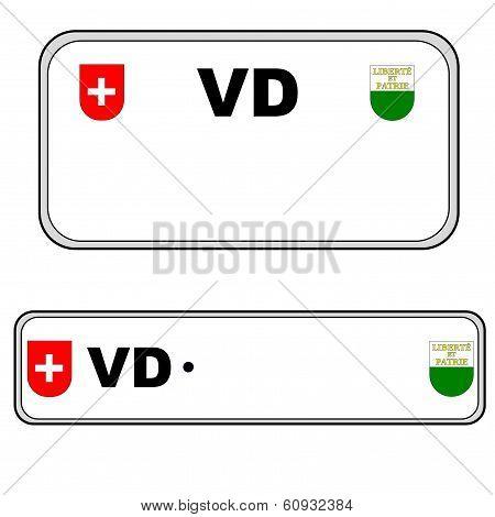 Vaud plate number, Switzerland