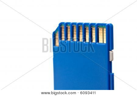 Macro Of A Secure Digital Portable Computer Data Card