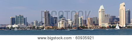 San Diego California Panorama Waterfront Skyline.