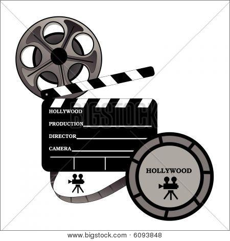 Hollywood nehmen ein Brett mit Filmrolle