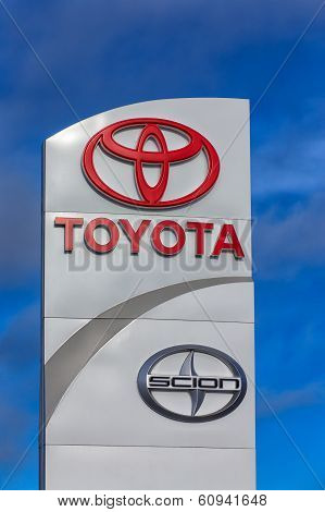 Toyota Automobile Dealership Sign