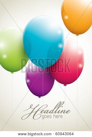vector of balloons in simple background