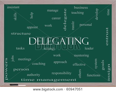 Delegating Word Cloud Concept On A Blackboard