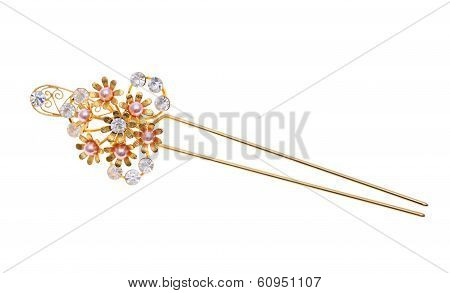 old gold hairpin