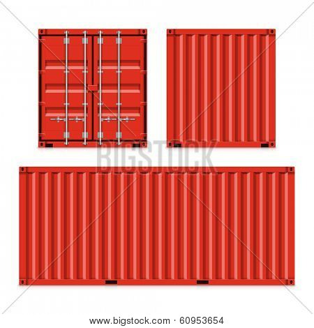 Freight shipping, cargo containers. Vector.
