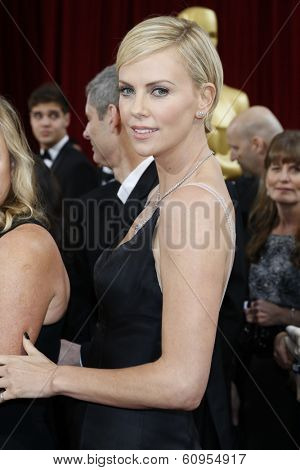 LOS ANGELES - MAR 2:: Charlize Theron  at the 86th Annual Academy Awards at Hollywood & Highland Center on March 2, 2014 in Los Angeles, California