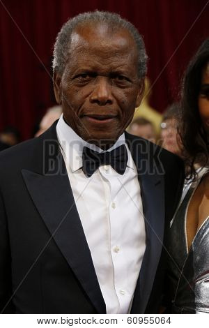 LOS ANGELES - MAR 2:: Sidney Poitier  at the 86th Annual Academy Awards at Hollywood & Highland Center on March 2, 2014 in Los Angeles, California