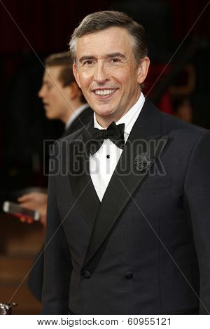 LOS ANGELES - MAR 2:: Steve Coogan  at the 86th Annual Academy Awards at Hollywood & Highland Center on March 2, 2014 in Los Angeles, California