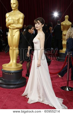 LOS ANGELES - MAR 2:: Cristin Milioti  at the 86th Annual Academy Awards at Hollywood & Highland Center on March 2, 2014 in Los Angeles, California