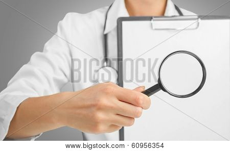 Medical Doctor Showing Analyzes