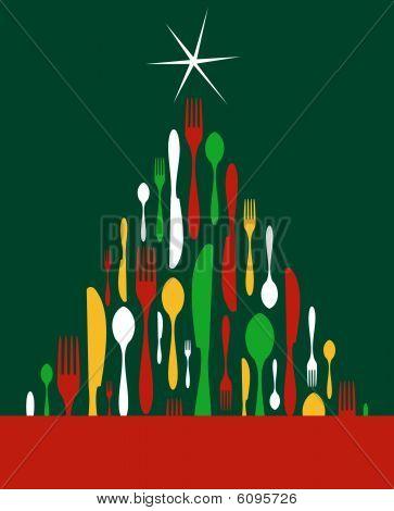 Weihnachtsbaum-Besteck