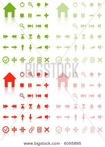 Collection of vector buttons with reflection. Active and inactive. More in my gallery.