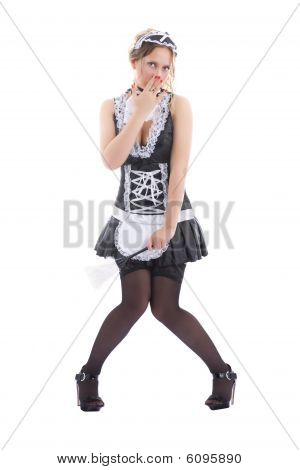 Attractive Maid Posing
