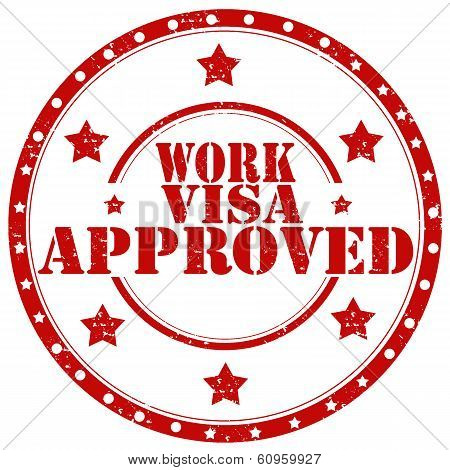 Work Visa Approved-stamp