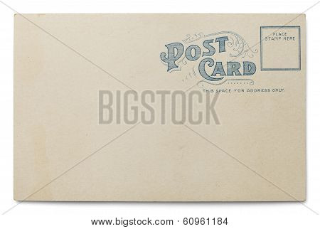 Old Blank Postcard