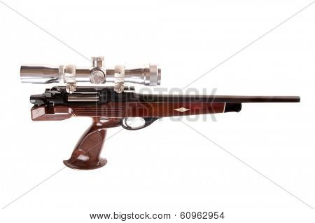 Interesting modern looking bolt action pistol in .223 caliber