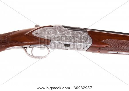Exquisite workmanship in the engraving of this Turkish made shotgun