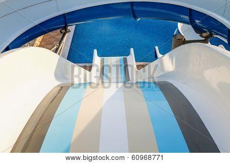 Water slide in the waterpark.