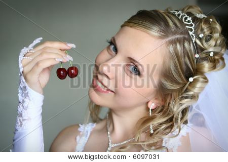 Bride with berry