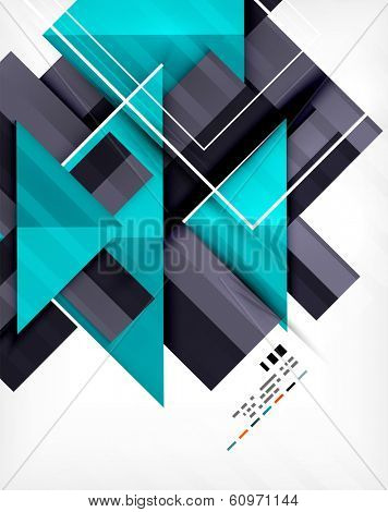Futuristic geometric shape abstract business template For banners, business backgrounds, presentations