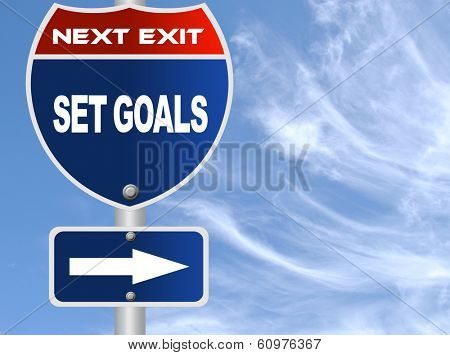 Set goals road sign