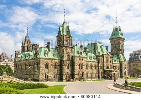 Canadian Parliament Building (gothic Revival Style), Ottawa, Canada
