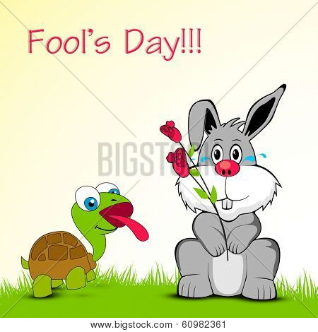Happy Fool's Day funky background.