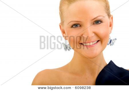 Beautiful Woman Portrait Isolated