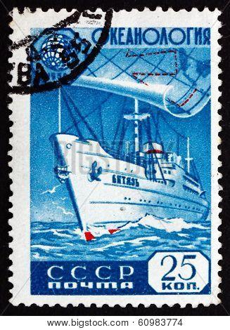 Postage Stamp Russia 1959 Oceanographic Ship Vityaz