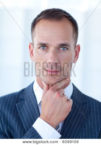 Portrait Of A Confident Attractive Businessman