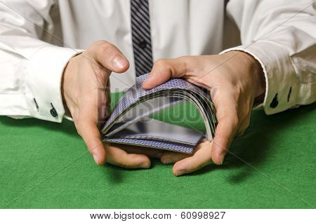 Hands Shuffling Cards Casino