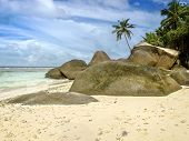 Deserted  Beach Of Tropical Island