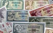 Old Yugoslavian paper money