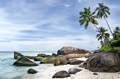 stock photo of deserted island  - Anse aux Cedres lovely deserted beach south - JPG