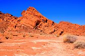 stock photo of valley fire  - Red rocks of Valley of Fire State Park - JPG