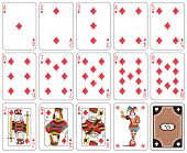 picture of joker  - Playing cards diamond suit - JPG