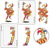 picture of joker  - Set of jokers playing card - JPG