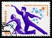 Postage Stamp Russia 1980 Freestyle Skating