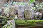 pic of shogun  - an image of an ancient Buddha heads - JPG
