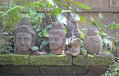 foto of shogun  - an image of an ancient Buddha heads - JPG