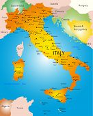 vector detailed map of Italy country