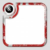 stock photo of ampersand  - red box for inserting text with pattern and ampersand - JPG