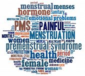 foto of menses  - PMS in word collage - JPG