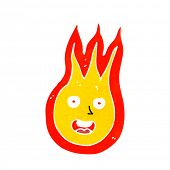 cartoon friendly fireball