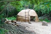 foto of house woods  - Native American wigwam hut  - JPG