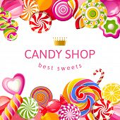 pic of bonbon  - Bright background with candies - JPG