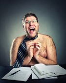 picture of pervert  - Happy crazy businessman - JPG