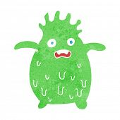 cartoon funny slime monster