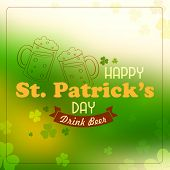 illustration of Saint Patricks Day background