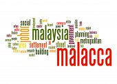 picture of malacca  - Malacca word cloud image with hi - JPG